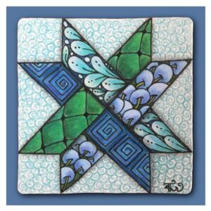 Woven Star Pattern - Blue and Green