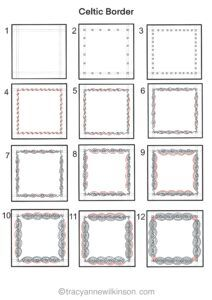 How to draw a Celtic border p1